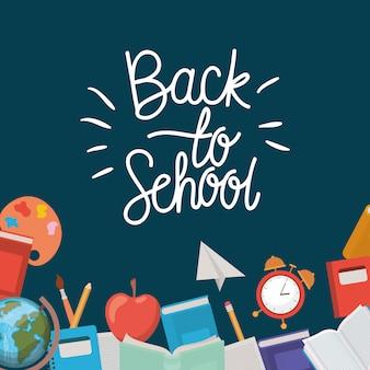 School levert terug naar school frame