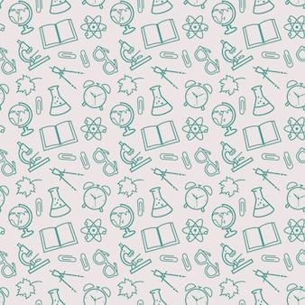 School naadloze patronen. vector achtergrond