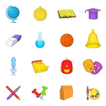 School pictogrammen instellen