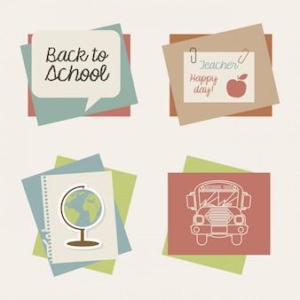 School pictogrammen over crème achtergrond vectorillustratie
