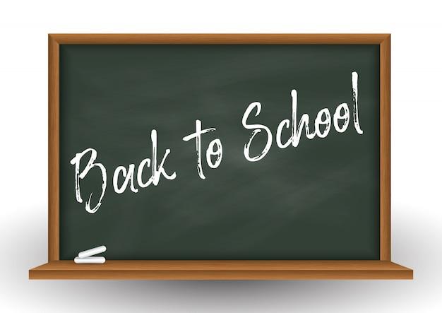 School schoolbord achtergrond met krijt