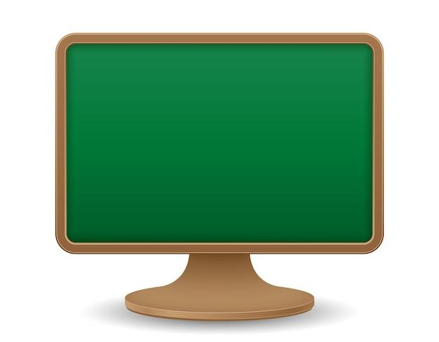 School schoolbord monitor scherm onderwijs concept vector illustratie vectorillustratie geïsoleerd op een witte background