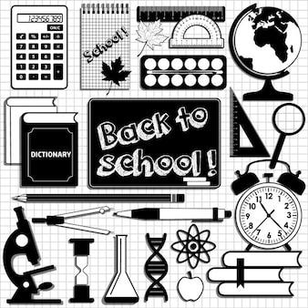 School set achtergrond design element