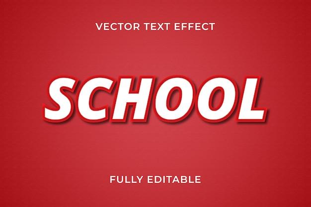 School tekst effect