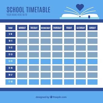 School tijdschema sjabloon te organiseren