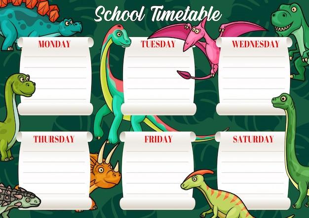 School tijdschema sjabloon van onderwijsschema