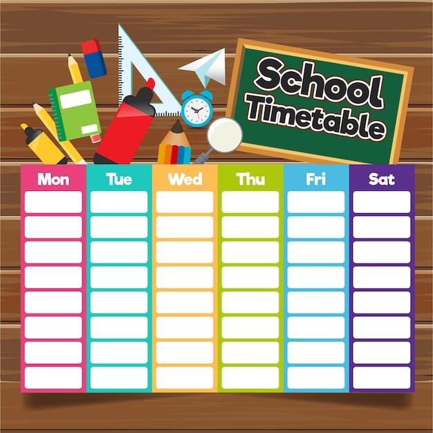 School tijdschema sjabloon