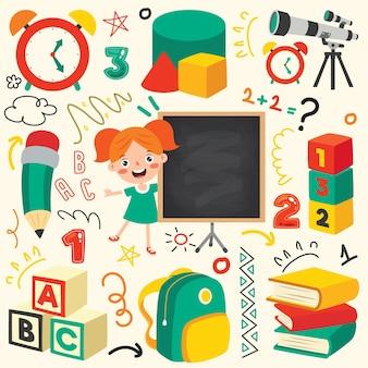 Schoolbenodigdheden voor kinderen onderwijs