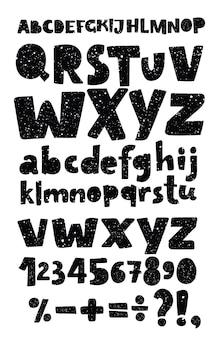 Schoolbord hand getekende vector lettertype