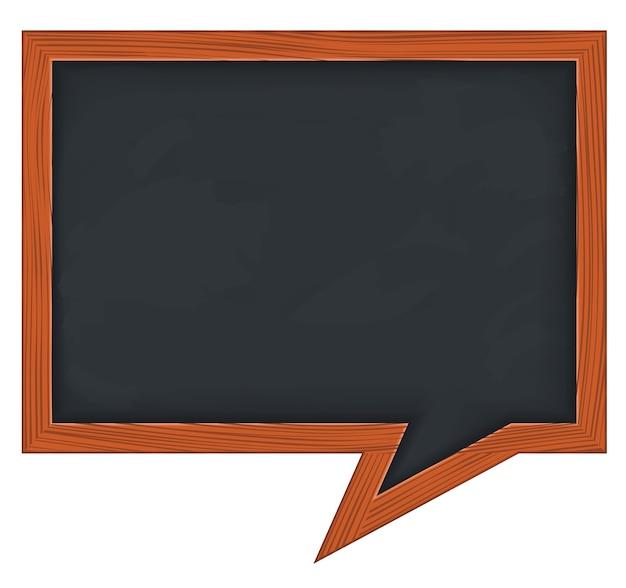 Schoolbord in de vorm van een tekstballon