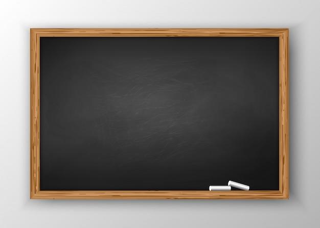 Schoolbord met houten frame