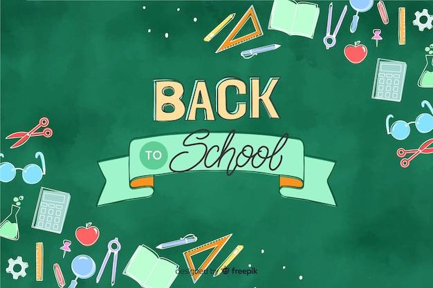 Schoolbord terug naar school achtergrond