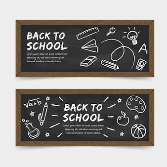 Schoolbord terug naar schoolbanners