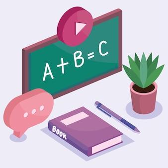 Schoolbord van onderwijs online