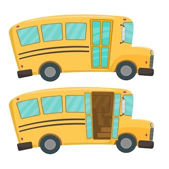 Schoolbus geïsoleerd