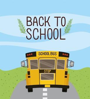 Schoolbusvervoer op de weg