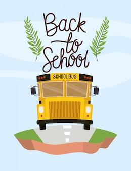 Schoolbusvervoer op het terrein