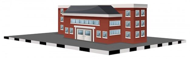 Schoolgebouw in 3d-ontwerp