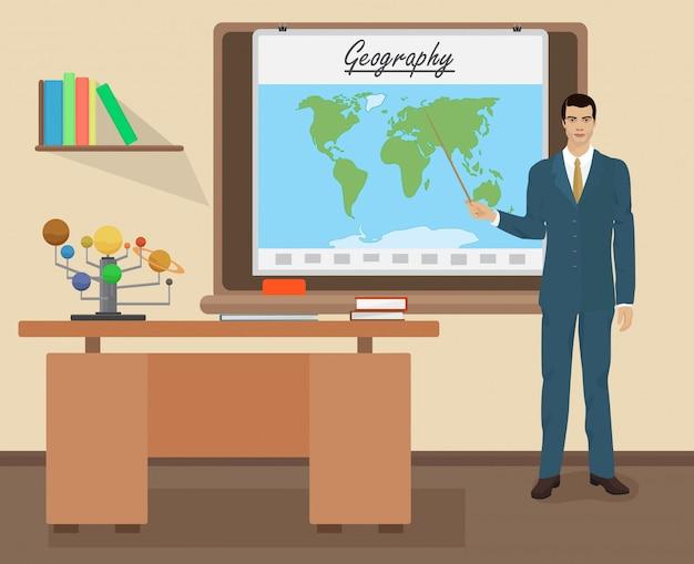 Schoolgeografie mannelijke leraar