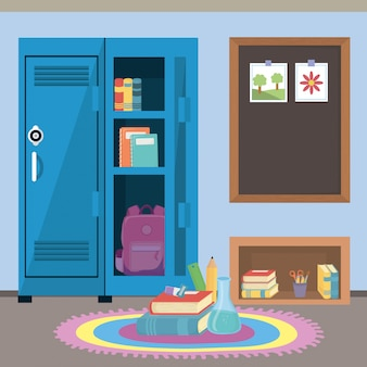Schoolkluis en benodigdheden