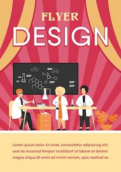 Schoolonderwijs en wetenschap concept