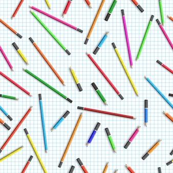 Schoolonderwijs naadloze patroon