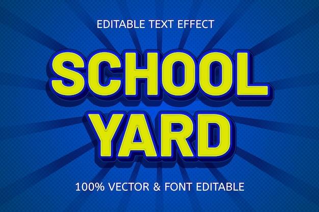 Schoolplein kleur geel blauw bewerkbaar teksteffect
