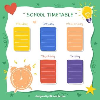 Schoolrooster om activiteiten te organiseren