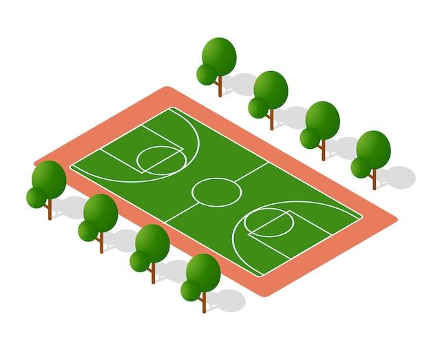 Schoolspeelplaats voor spelletjes voor schoolkinderen