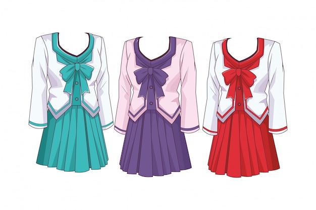 Schooluniform anime