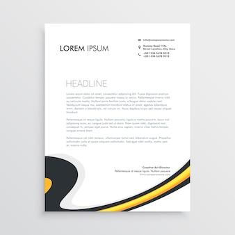Schoon modern business briefpapier sjabloon ontwerp