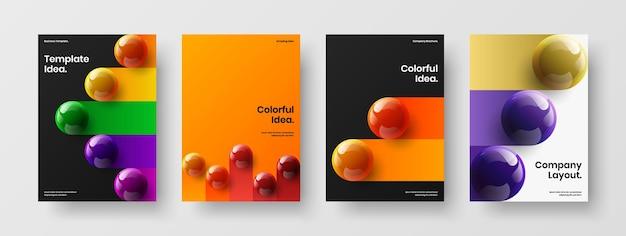 Schoon pamflet a4 vector ontwerpsjabloon set