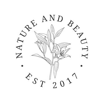 Schoonheid biologische cosmetica bloemist fotografie bruiloft logo ontwerp