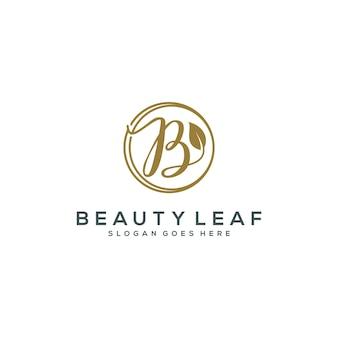 Schoonheid blad logo sjabloon