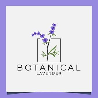 Schoonheid botanisch lavendel logo-ontwerp voor uw bedrijf cosmetische salon kruidenparfum