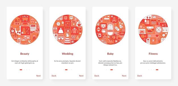 Schoonheid bruiloft baby fitness sport concept, dunne lijn