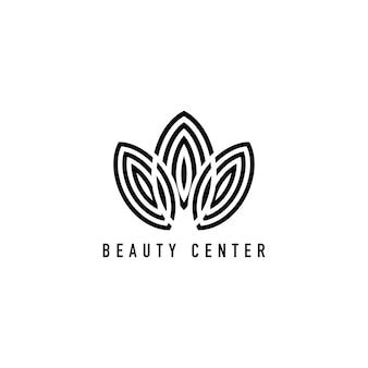 Schoonheid centrum branding logo illustratie