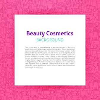 Schoonheid cosmetica papieren sjabloon. vectorillustratie van schetsontwerp.