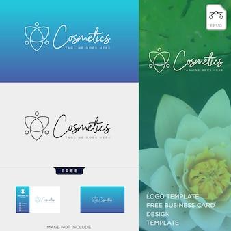 Schoonheid cosmetische lijn kunst logo sjabloon vector illustratie pictogram element