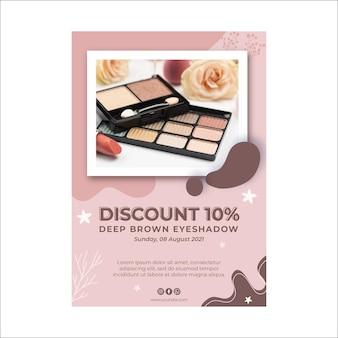 Schoonheid cosmetische natuurlijke make-up flyer
