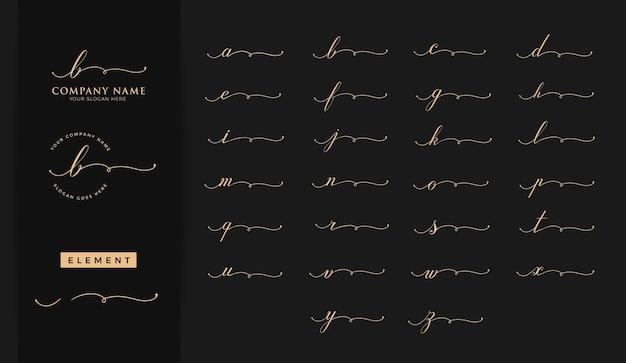 Schoonheid eerste letter logo ontwerp