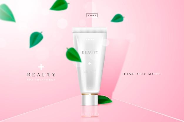 Schoonheid en jeugd cosmetische productadvertentie
