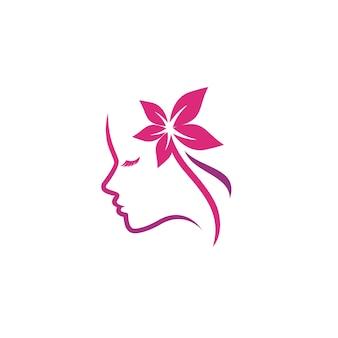Schoonheid en salon logo sjabloon