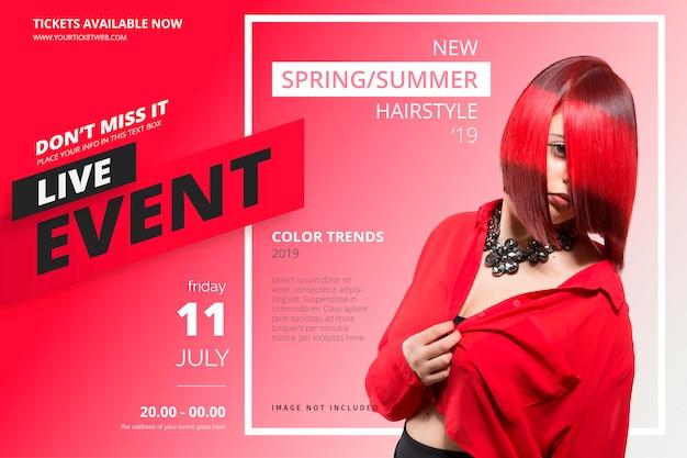 Schoonheid evenement poster sjabloon