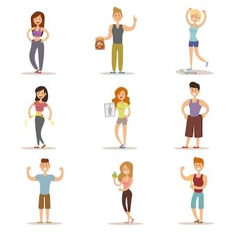 Schoonheid fitness mensen gewichtsverlies