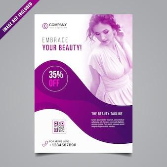 Schoonheid flyer ontwerp