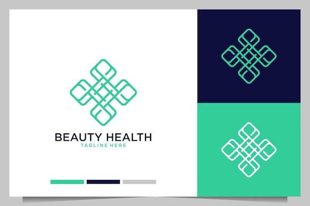 Schoonheid gezondheid geometrie lijn kunst logo ontwerp
