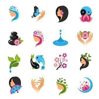 Schoonheid icons set