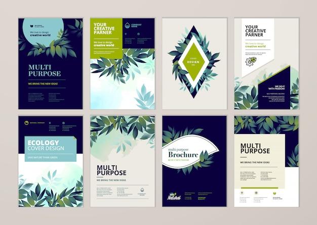 Schoonheid jaarverslag dekking sjabloon ontwerpset