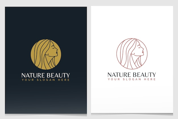 Schoonheid logo branding sjabloon